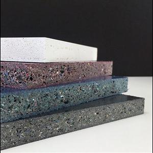 Gop erbjuder ett antal byggskivor tillverkade av återvunnet plastavfall. En av dessa är EKOply som kan användas för applikationer både inomhus och utomhus som alternativ till exempelvis MDF eller plywood.