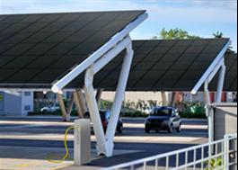 SunRoof solcellstak på väderskydd/laddstationer