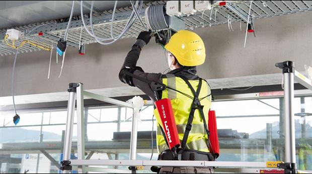 Exoskelett för byggarbetare