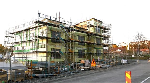 Den totala husbyggnadsvolymen under första halvåret 2020