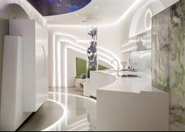 Magna Glaskeramik bakbelysta väggar och golv