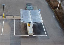 Väderskydd med solceller