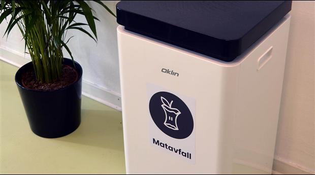 Helautomatiserad kompostmaskin för kontor