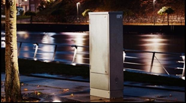 Garos kabelskåp för belysning och fördelning