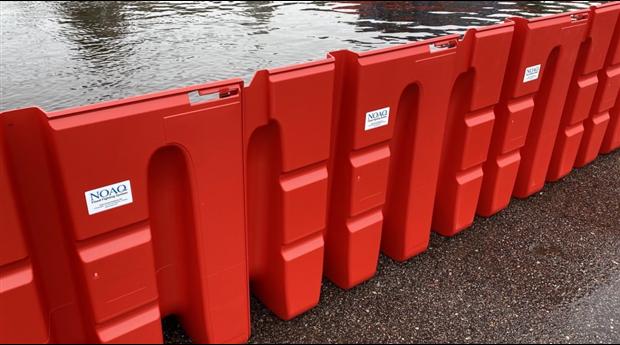 NOAQ Boxvall självförankrande skyddsvallar mot översvämningar