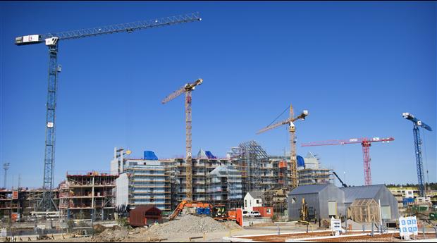 Stora regionala skillnader på byggmarknaden 2020