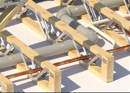 Öppen konstruktion förenklar rördragning och installation