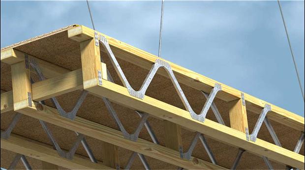 Golvbjälklag i hybridlösning av trä och stål
