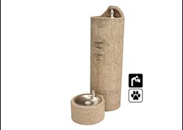 Dricksfontän GUF99-PF av gjuten, armerad betong med stenmönster