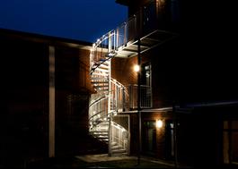 Dekorativ LED-belysning för Welands spiraltrappor