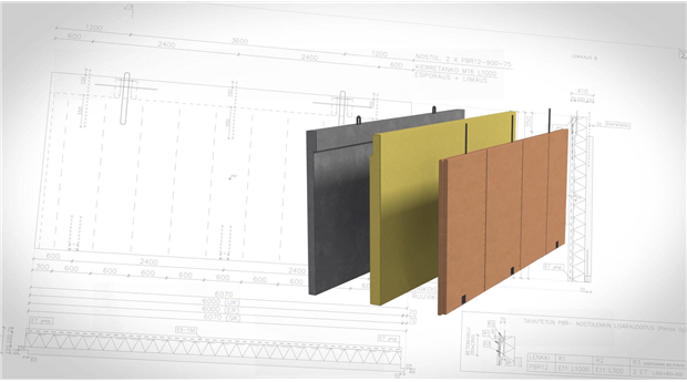 Hybridelement som kombinerar trä och betong