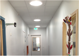 Solatube med LED-hybrid, förskola, Varberg