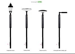 ActiveLights Hybrid belysningsstolpe med olika armaturer