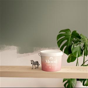 Beckers nya färg Mood Care Wall är en kombinerad grund- och täckfärg som delvis är baserad på förnybara, biobaserade råvaror och märkt med Svanen samt Astma- och Allergiförbundets märkning Svalan.