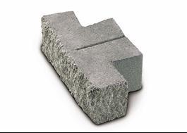 T-format block som kan klyvas på mitten