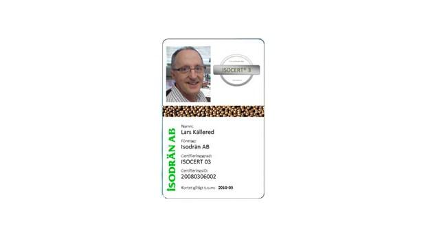 Certifiering för montering av Isodrän
