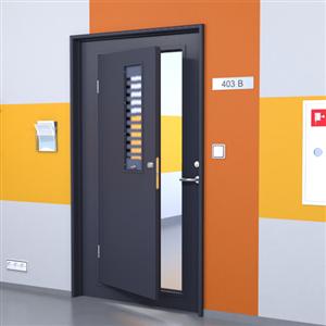 Dörr med alternativ öppning