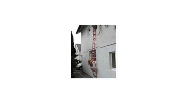 Enkel räddningsstege för brandutrymning