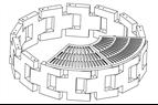Runda flexibla planteringslådor i betong