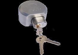 Coverlock har en utbytbar cylinder