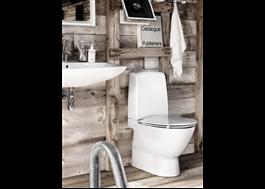 Handfat och golvstående WC