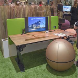 Kontorsmöbler med integrerad luftrening