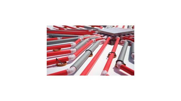 Luftburet golvvärmesystem för ingjutning