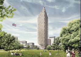 Västerbroplan, 34 våningar av trä. Berg | C.F. Möller Architects/DinellJohansson