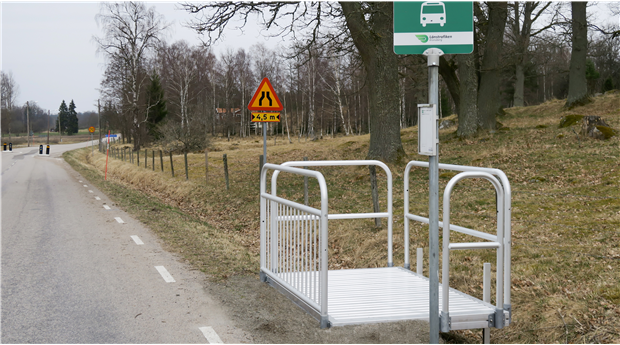 Skapa säkrare busshållplatser