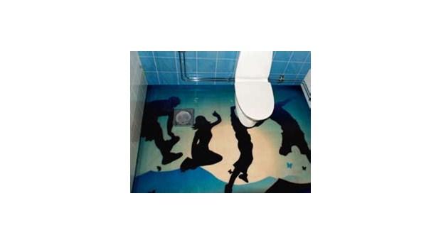 Helgjutet badrumsgolv ger skydd mot vattenskador