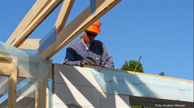 Kraftig ökning av byggmaterialanvändningen. Foto Anders Wester