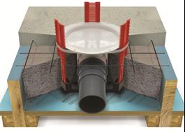 Montage av golvbrunn i träbjälklag / EPS betong