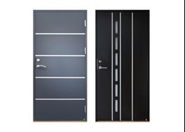 Exempel på Ekstrands Passivhuscertifierade ytterdörrar, Torino 131 och Duoro 104
