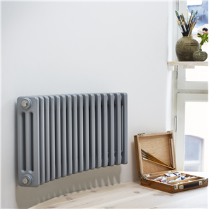 Vattenburen radiator för runda rum
