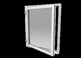 Smart sidhängt fönster, trä