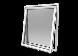 Smart vridfönster, trä